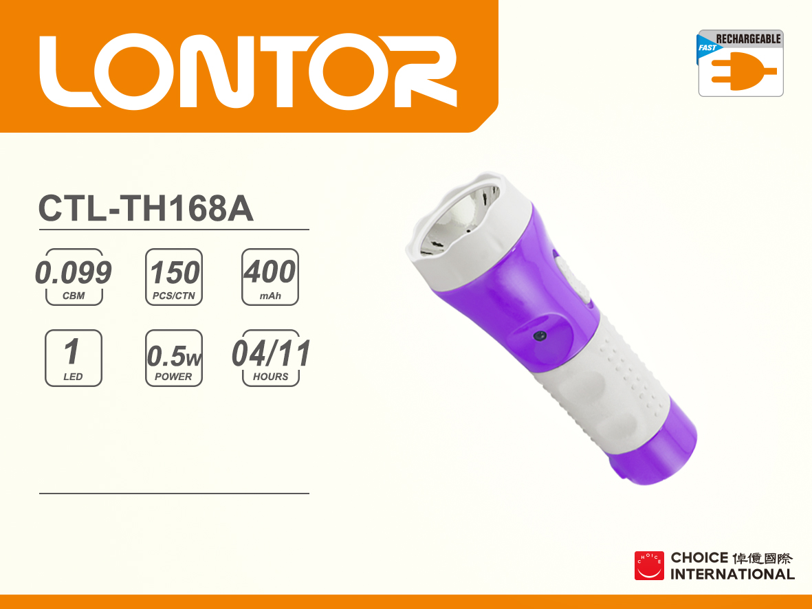 Rechargeable torch CTL-TH168A