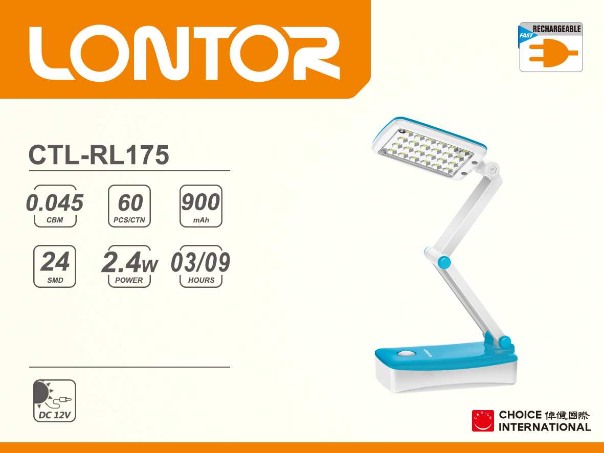 Rechargeable Reading Lamp CTL-RL175