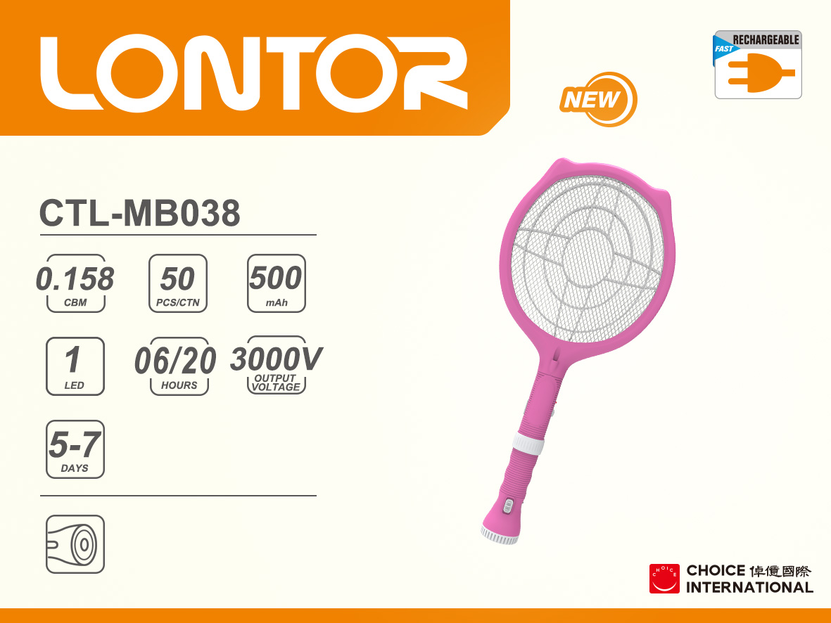 Rechargeable Mosquito Bat CTL-MB038