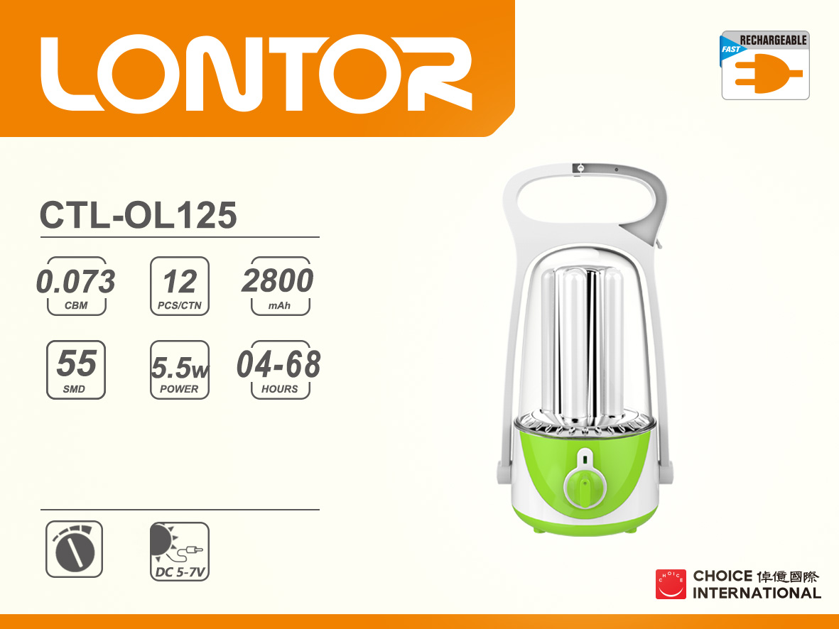 Rechargeable Camping Lantern CTL-OL125