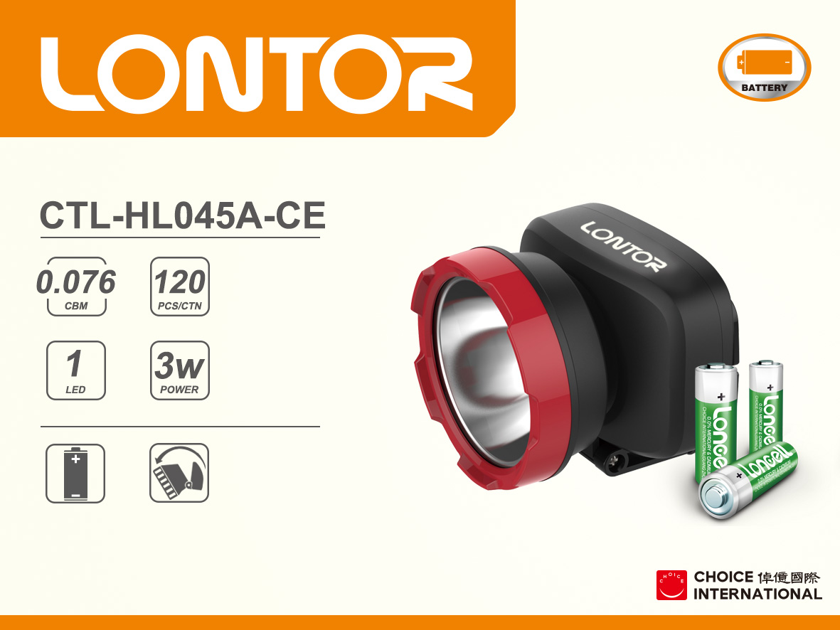 Rechargeable Head Light CTL-HL045A-CE