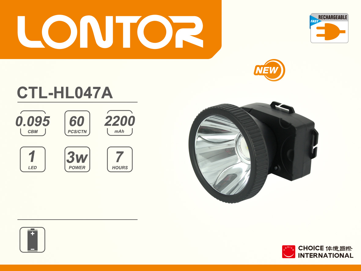 Rechargeable Head Light CTL-HL047A