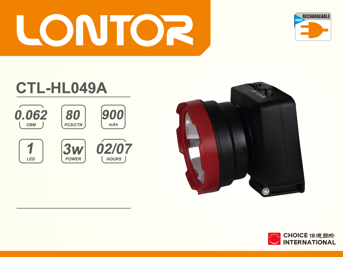 Rechargeable Head Light CTL-HL049A