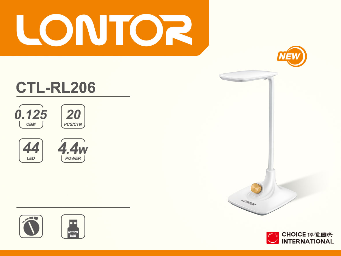 Rechargeable Reading Lamp CTL-RL206