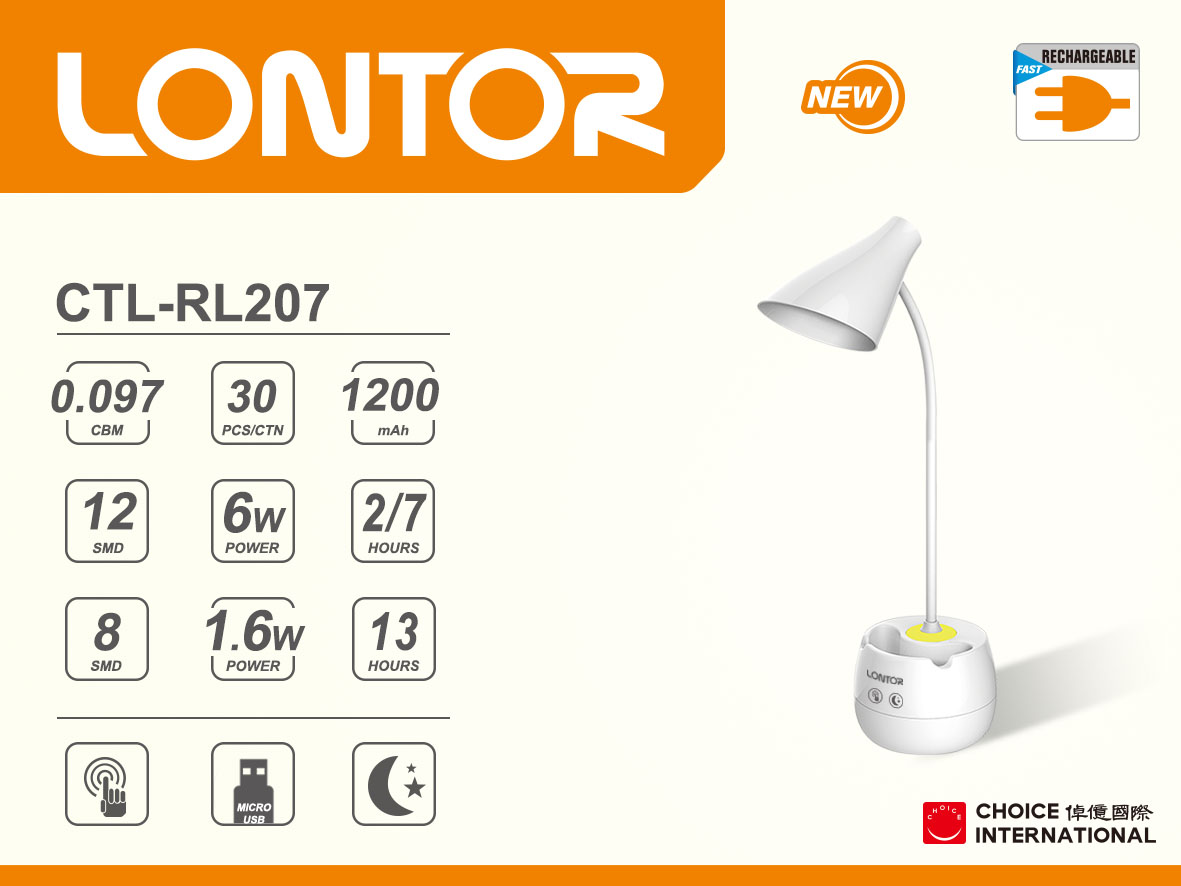 Rechargeable Reading Lamp CTL-RL207