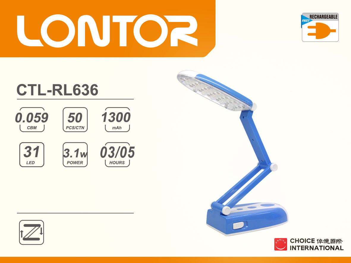 Rechargeable Reading Lamp CTL-RL636