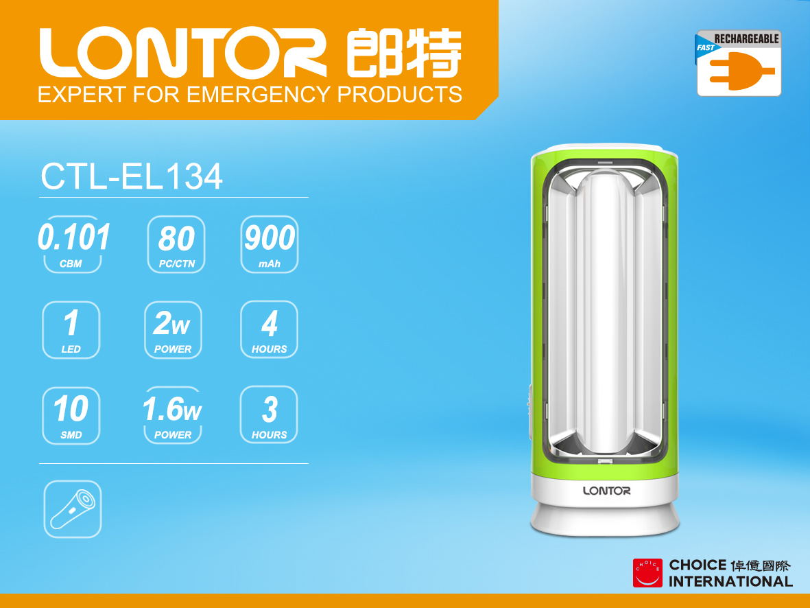 Rechargeable Emergency Light CTL-EL134